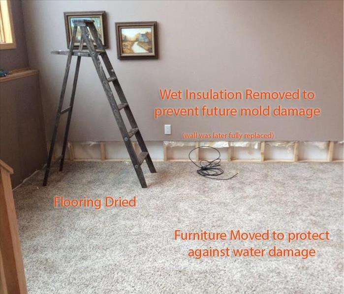servpro restoration w/ description
